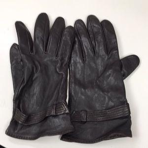 Genuine Leather Dark Brown Gloves Never Used
